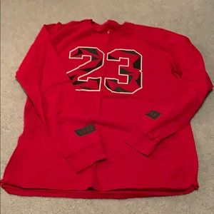 Jordan 23 Red Long Sleeve T Shirt